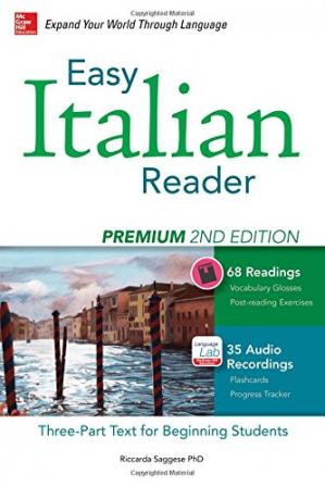 Portada del libro Easy Italian Reader, Premium 2nd Edition: A Three-Part Text for Beginning Students