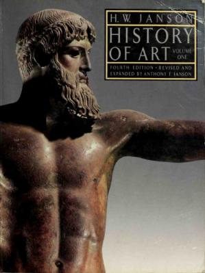 Book cover History of art