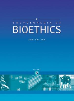 Book cover Encyclopedia of bioethics