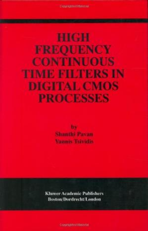 A capa do livro High Frequency Continuous Time Filters in Digital CMOS