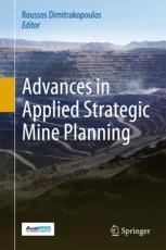 غلاف الكتاب  Advances in Applied Strategic Mine Planning