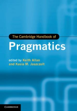 Buchdeckel The Cambridge Handbook of Pragmatics