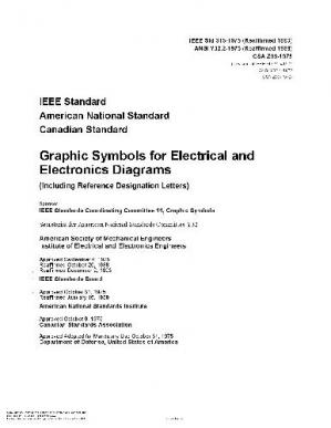 Kitabın üzlüyü 315-1975 R1993) IEEE Graphic Symbols for Electrical and Electronic Diagrams Including Reference Designation Letters) Bound with its Supplement 315-1986 R1993