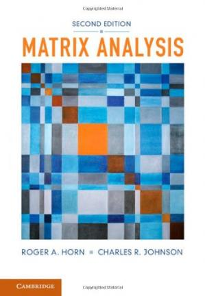Book cover Matrix Analysis