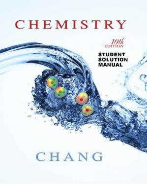 Book cover Chemistry 10th Edition Student Solutions Manual (Raymong Chang)