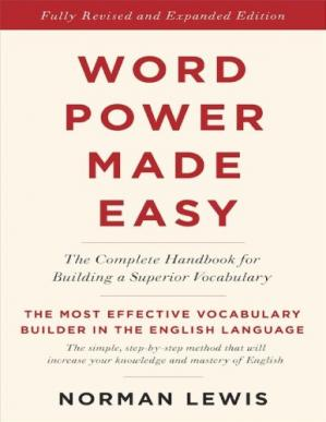 A capa do livro Word Power Made Easy: The Complete Handbook for Building a Superior Vocabulary