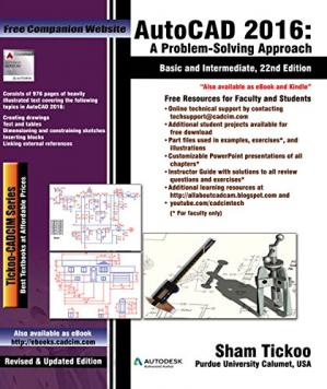 Book cover AutoCAD 2016: A Problem-Solving Approach, Basic and Intermediate