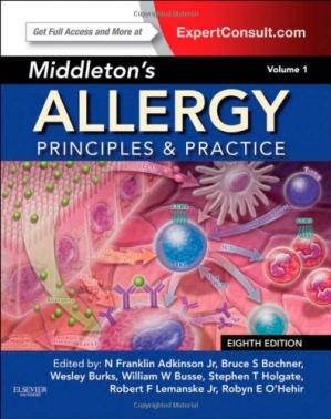 Book cover Middleton's Allergy 2-Volume Set: Principles and Practice (Expert Consult Premium Edition - Enhanced Online Features and Print)