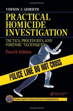 A capa do livro Practical Homicide Investigation - Tactics, Procedures and Forensic Techniques 4th Edition