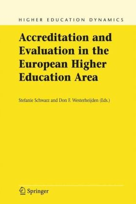 Copertina Accreditation and Evaluation in the European Higher Education Area (Higher Education Dynamics)