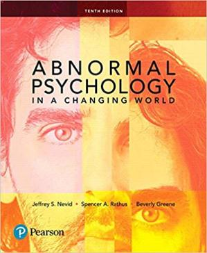 Book cover Abnormal Psychology in a Changing World