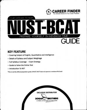 Book cover NUST BCAT Guide Book