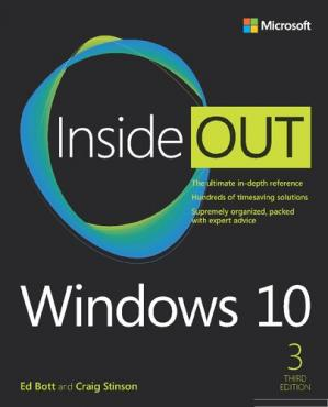 Book cover Windows 10 Inside Out.