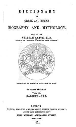 Book cover Dictionary of Greek and Roman Biography and Mythology Vol II.