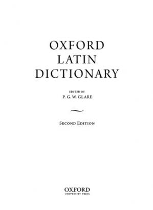 Book cover Oxford Latin Dictionary
