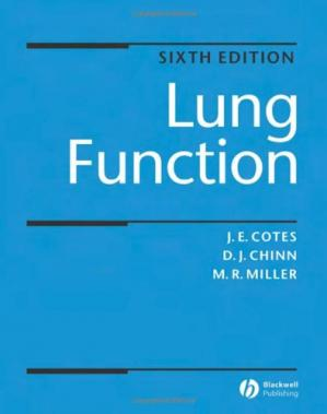 Sampul buku Lung function: Physiology, Measurement and Application in Medicine (6th Edition)