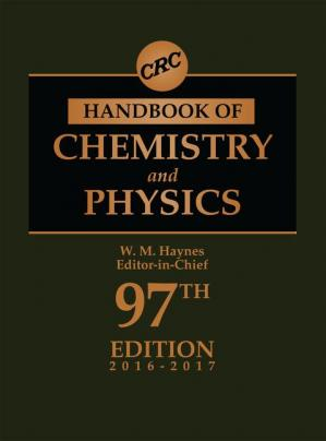 Book cover CRC Handbook of Chemistry and Physics (2016-2017)
