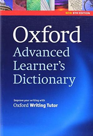 Kitabın üzlüyü Oxford Advanced Learner's Dictionary