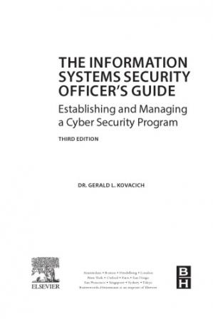 Copertina The Information Systems Security Officer's Guide. Establishing and Managing a Cyber Security Program