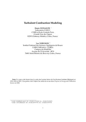 Book cover Turbulent Combustion Modeling