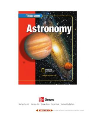 Book cover Glencoe Science: Astronomy, Student Edition