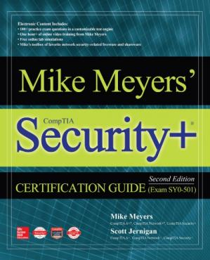 A capa do livro Mike Meyers' CompTIA security+ certification guide, (exam SY0-501)