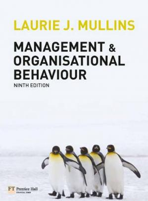 Okładka książki Management & Organisational Behaviour (9th Edition)