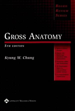 Book cover BRS Gross Anatomy