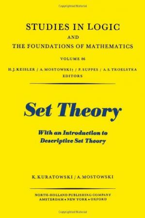Copertina Set theory, with an introduction to descriptive set theory
