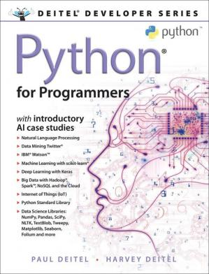 غلاف الكتاب Python for Programmers: with Introductory AI Case Studies