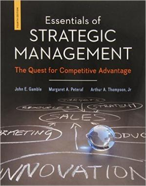 Book cover Essentials Of Strategic Management: The Quest For Competitive Advantage