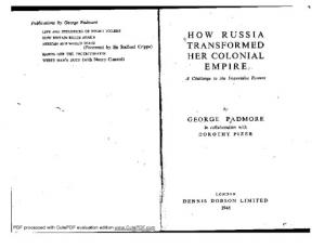 Book cover How Russia Transformed Her Colonial Empire
