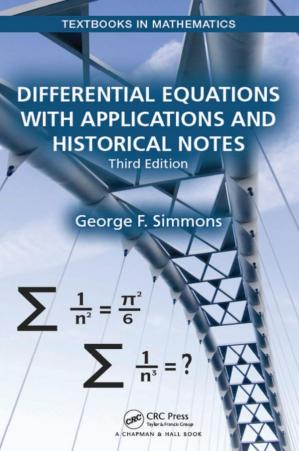 Book cover Differential Equations with Applications and Historical Notes, Third Edition