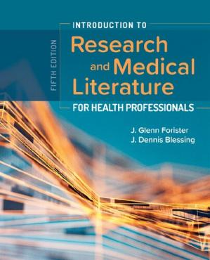 Book cover Introduction to research and medical literature for health professionals