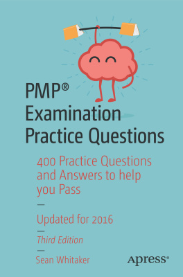 کتاب کی کور جلد PMP Examination Practice Questions: 400 Practice Questions and Answers to help you Pass