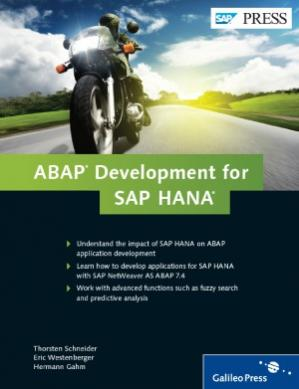 表紙 ABAP Development for SAP HANA