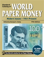 Book cover Standard Catalog of World Paper Money. Modern Issues 1961 - Present, 17th Edition