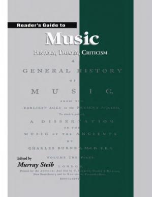 Book cover Reader's Guide to Music: History, Theory and Criticism