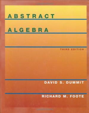 Book cover Abstract Algebra, 3rd Edition