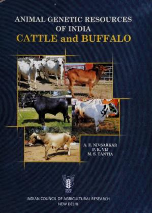 Εξώφυλλο βιβλίου Animal genetic resources of India : cattle and buffalo