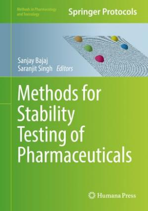 Portada del libro Methods for Stability Testing of Pharmaceuticals