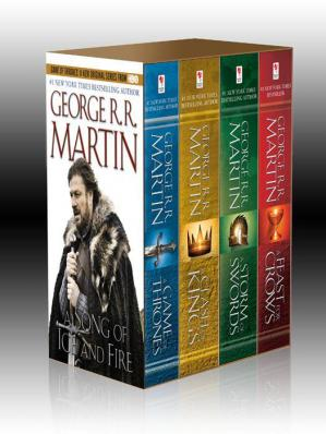 Sampul buku George R. R. Martin's Song of Ice and Fire 4-Book Bundle: A Game of Thrones, A Clash of Kings, A Storm of Swords, A Feast for Crows