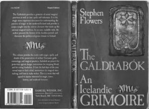 Book cover Galdrabok: An Icelandic Grimoire