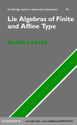 Book cover Lie Algebras of Finite and Affine Type