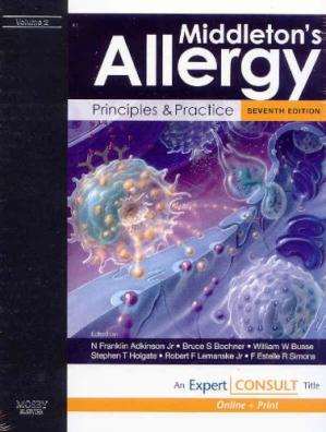 Book cover Middleton's Allergy: Principles and Practice: Expert Consult: Online and Print, 2-Volume Set (Allergy (Middleton))