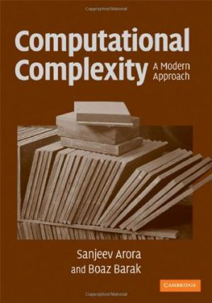 Book cover Computational complexity: A modern approach