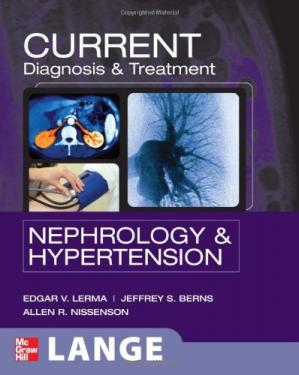 Book cover CURRENT Diagnosis & Treatment Nephrology & Hypertension (LANGE CURRENT Series)