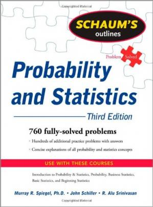 Sampul buku Schaum's Outline of Probability and Statistics