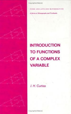 Book cover Introduction to functions of a complex variable