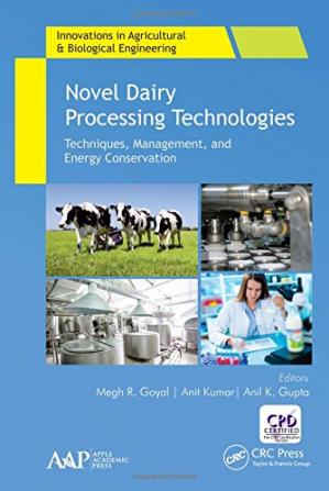 Sampul buku Novel Dairy Processing Technologies: Techniques, Management, and Energy Conservation